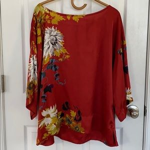 Soft Surroundings kimono sleeve Asian inspired top